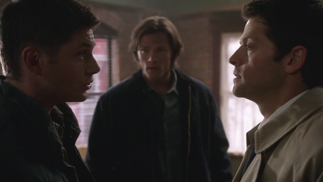 Dean, Sam and Castiel in s06e03: The Third Man